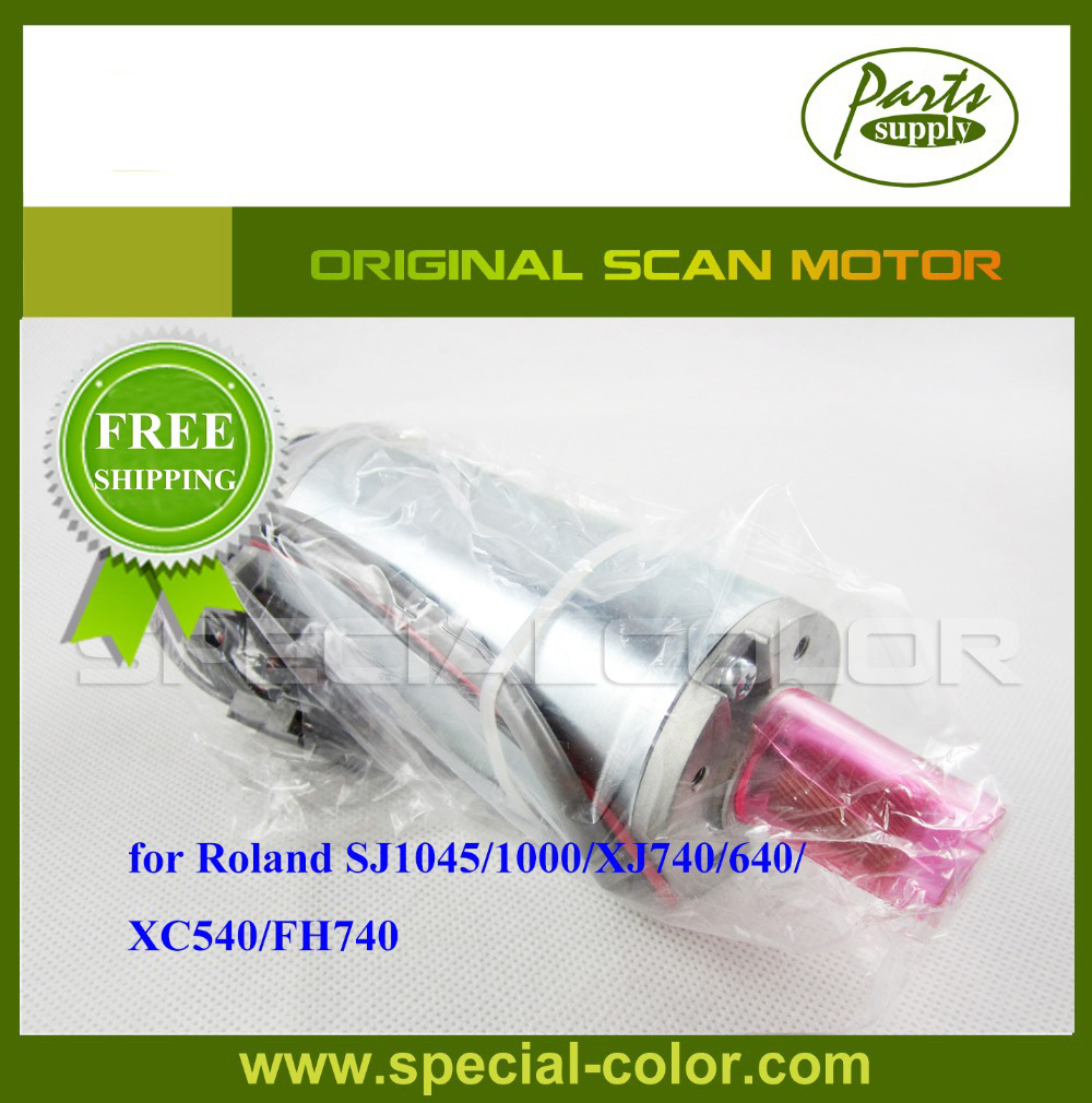 Free Shipping! Roland SJ1000 Scan Motor Original for XJ740/640/XC540/FH740 6pcs set cmyklclm permanent roland xc 540 eco solvent chips