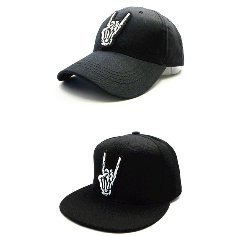 LDSLYJR cráneo gesto de algodón bordado gorra de béisbol hip-hop gorra  ajustable Snapback sombreros para niños y adultos con un tamaño de 67 21d397fd782