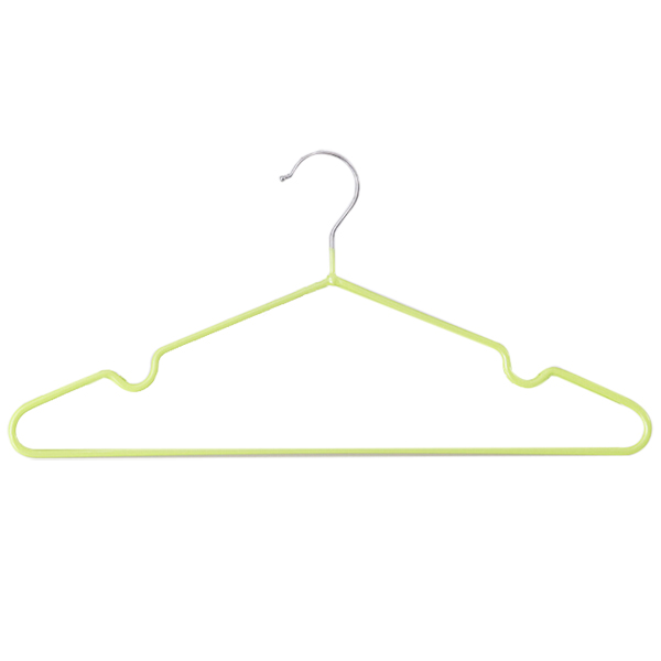 10 pcs/lot Children Adult Non-Slip Metal Shirt Trouser Hook Hangers Coat Hanger Clothes Accessories Rack (green)