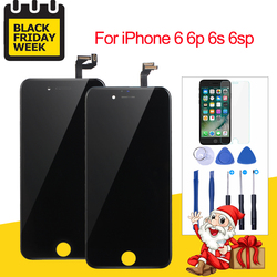 AAA Quality LCD Screen For iPhone 6S Display Assembly Touch Digitizer Replacement for iphone 6 6s 6 plus Black White with Gifts