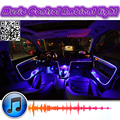 Ambiente Ritmo Luz Para Mazda MX 5 Miata MX5 MX-5 Roadster Interior de la Música/Sonido/Luz DIY Atmósfera Coche De Fibra Óptica banda