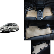 free shipping leather car floor mat carpet rug for kia rondo carens 3rd generation 2013 2014 2015 2016 2017 7 seater mat 3 rows