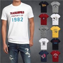 2016 m. Naujoji mada Didžiosios markės hollistic marškinėliai vyrų 100% medvilnė abercr už Ombi vyrų marškinėliai, vasaros stilius marškinėliai Nemokamas pristatymas