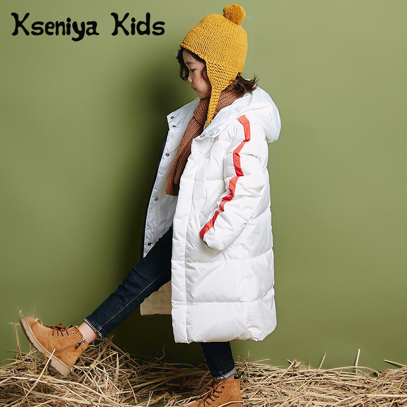Kseniya Kids Overcoat Long Style Down Jacket For Girl Winter Jackets Coat Children Outerwear Thick Warm viishow winter casual parkas mens slim fitness overcoat jackets black zipper hip hop style jacket coat for men clothing mcz0364