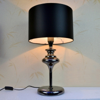 Special stylish simplicity of classic and elegant black shade bedside lamp bedroom lamp dimmable Table Lamps FG564
