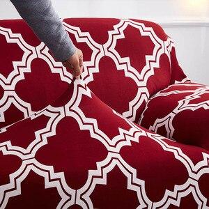 Image 5 - אדום כיסויים ספה כיסוי הכל כלול להחליק עמיד חתך ספה מכסה לסלון אלסטי ספה כיסוי 1 /2/3/4 מושבים
