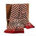 Мода Brand New Мужские 100% Шелковый Длинный Шарф Галстук Scarives Двойной Слой Мг-Красный # _ _ Perfect Подарки