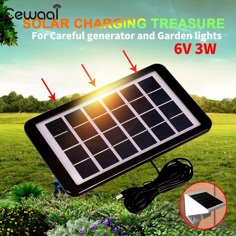 Портативные солнечные панели модуль Солнечный свет солнечной батареи Открытый Солнечный смены 6V3W