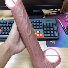 13.7 Inch Skin feeling Realistic Penis Super Huge Big Dildo Suction Cup