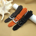 New High Quality rubber strap 29*13mm Black Brown Orange Diving Silicone Watchbands  fit  MK8152