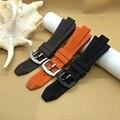 Nova pulseira de borracha de Alta Qualidade 29*13mm Marrom Preto Laranja Mergulho Silicone Pulseiras fit MK8152