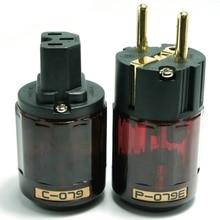 цена на Oyaide C-079 P-079e Schuko Europe EU Power Plug 24k Gold Plated IEC Audio Connector Female-Male MATIHUR audio hifi