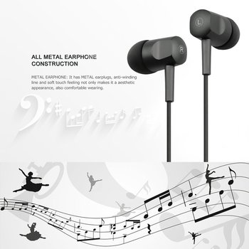 5pcs Unique Portable Dynamics Line Control Stereo In-ear Earbuds Earphones Headphone with Microphone Mic 3.5mm Plug