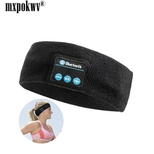 цена на Outdoor Sport Bluetooth Headband Wireless Wearable Stereo Music Earphone Headphone Bluetooth Headset With MIC for Smart phone PC