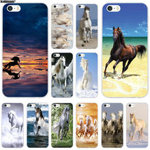 Wild Horses Running At Sunset Slim Soft TPU Silicon Phone Case Protector for iPhone 6 6S 7 8 Plus 4 4S 5S 5C SE X Coque Shell(China)
