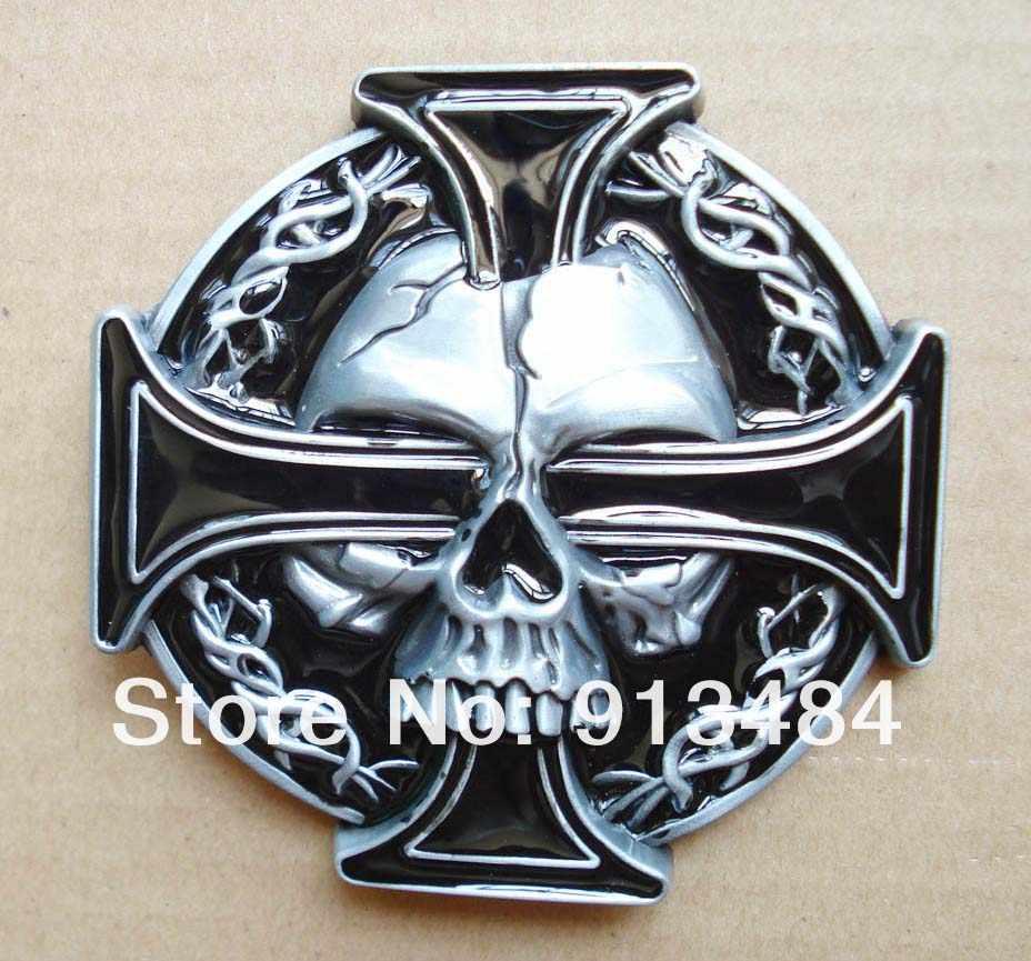 ... Hebilla de cinturón de Cruz de calavera y keltic adecuada para cinturón  de ancho de 4 ... 21f18164ab9f