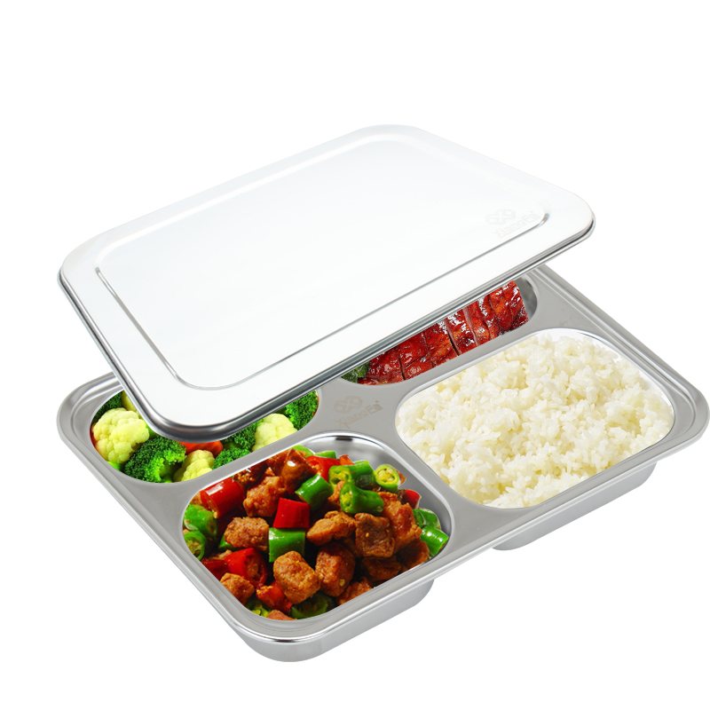 buy 4 compartment food container with lid divided plate bent. Black Bedroom Furniture Sets. Home Design Ideas