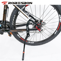 ROBESBON Aluminium Alloy Bike Kickstand Sidestay Fit For 24 29 Bicycle Racks Kick Bike Stands Black Cycling Accessories