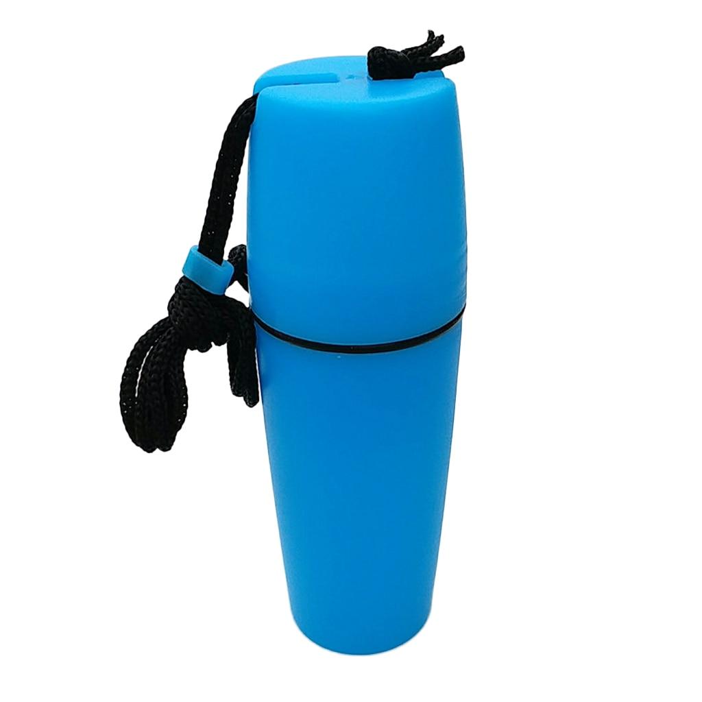 Waterproof Plastic Capsule Container Bottle Box Case For Scuba Diving Snorkeling Kayak Swimming Fushia &Blue