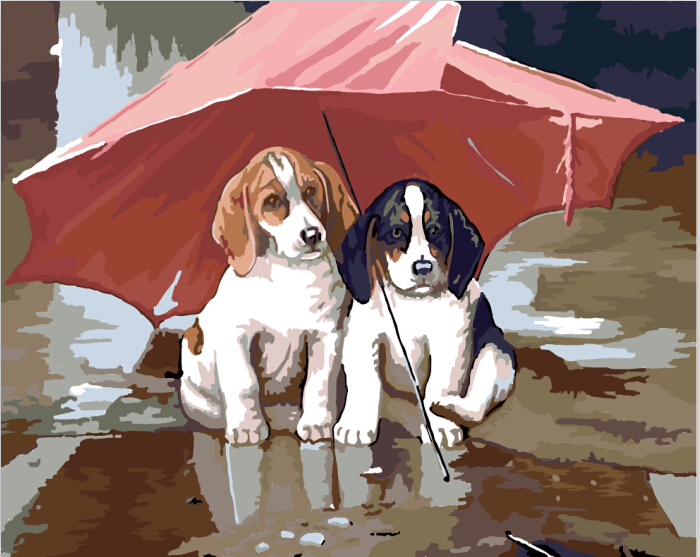 Aliexpresscom Buy Cute cats and dogs paintings Wall pictures