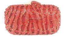 Freies verschiffen!! A15-28, rot farbe mode top kristallsteinen ring handtaschen für damen nette parteibeutel