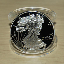 2018 American Eagle Liberty Silver Coins,Free Shipping 5pcs/lot 1oz Brass silver clad coin