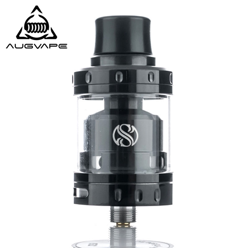 Augvape Merlin Mini RTA Tank Atomizer 24mm 2ML Single/Dual Coil Deck Dual Airflow Vape Electronic Cigarette Tank Vaping RTA