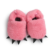 Cute Monster Paw Baby Slippers First Walkers