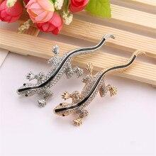 Pins Lizard Brooch For Womens Shirt Cute Silver Gifts Fashion Jewelry Metal Pin Set Enamel Rhinestone Zircon