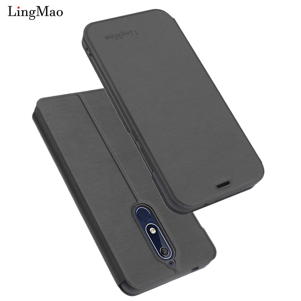 Nokia 2.1 Case Luxury Retro Flip Wallet Leather Case for Nokia 5.1 Cover Stand phone Bag Nokia X6 6 2018 2.1 5.1 silicone Case
