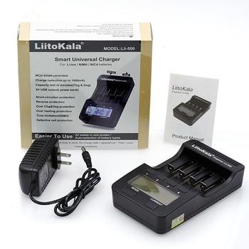 Liitokala lii500 Смарт Универсальный LCD литий-ионный NiMh AA AAA 10440 14500 16340 17335 17500 18490 18650 зарядное устройство