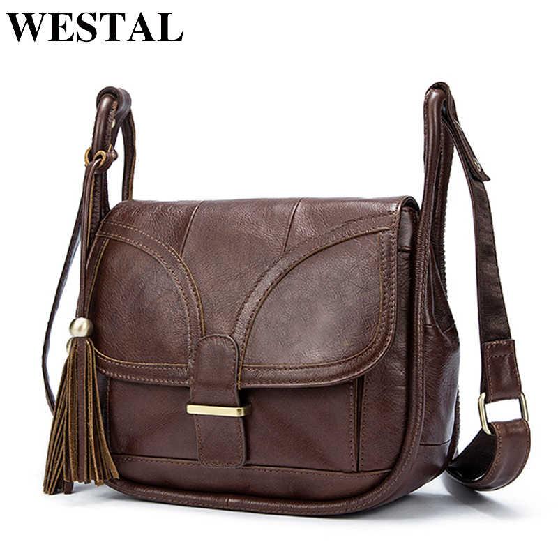 f6c0615ad378 WESTAL роскошные сумки женские сумки дизайнер сумка натуральная кожа  crossbody сумки для женщин кожаная сумка женские