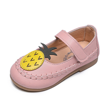 COZULMA Children Cute Pineapple Casual Shoes Girls Princess Leather Single For Toddlers Kids School Size 21-25