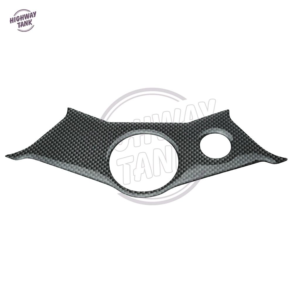 ᗑ1 Pcs Motorcycle Carbon ∞ Fiber Fiber Pattern Top Triple