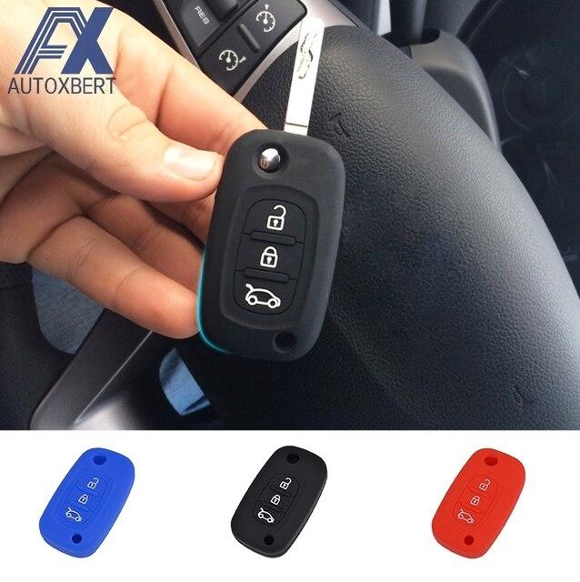 ax 3 button silicone remote key cover case fob fit for lada priora