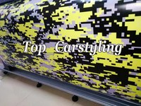 Yellow Ubran Camo Vinyl For Car Wrap Camouflage Digital Car Sticker Motorcycle Bike Boat Vehicle Size