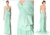 Hot Sell Sexy Sweetheart Country Style Mint Green Bridesmaid Dresses 2013 Chiffon Long BO1203