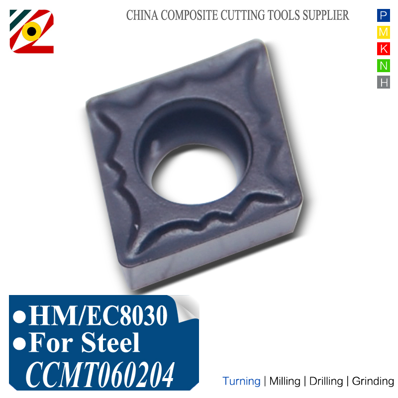 Cortadora de torno CNC EDGEV CCMT060202 CCMT060204 CCMT2151 Insertos de carburo indexable Herramientas de torneado de mandrinado Mecanizado de tungsteno Acero