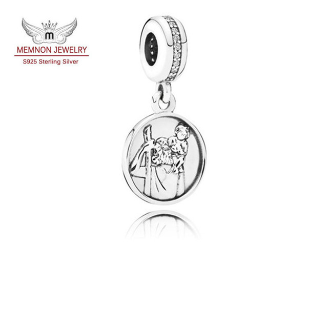 Fine jewelry Guardian of Travel charms 925 sterling-silver-jewelry fit charm bracelet necklace metal pendants DIy beads MN715