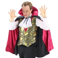 Fantasia Adult Halloween Male Vampire Magician Cosplay Costume Men Zombie Vampire Costume Cloak Fancy Dress Outfit Plus Size