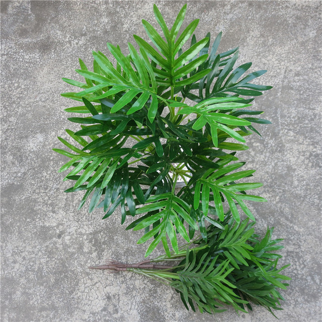 3 branches real touch iron fern leaf bunch artificial fern greenery