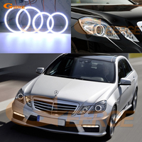 For Mercedes Benz E Class W212 E350 E550 E63 AMG 2010 2013 Excellent Ultra bright illumination COB led angel eyes kit halo rings