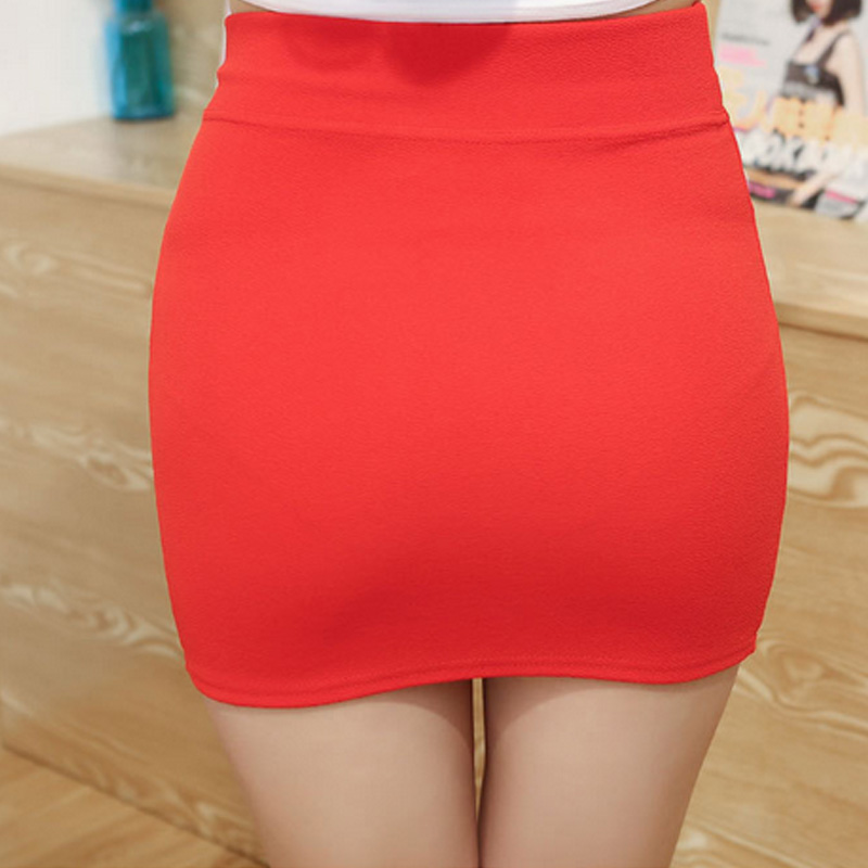 New Micro Mini Skirts 2017 Summer <font><b>Sexy</b></font> Girls Skirts Casual Package <font><b>Hip</b></font> Short Skirts Women Tight Office Party Female Red Black 50 image