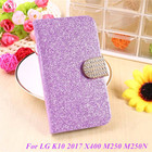Fashion Bling Glitter Flip Case Cover For LG K10 2017 K 10 X400 M250 M250N K20 Plus K20 V 5.3'' Phone Case With Card Slot