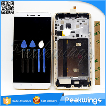 LCD For Cubot X10 LCD Display Touch Screen Digitizer Assembly with Gold Frame+3m Sticker+Tools+Track