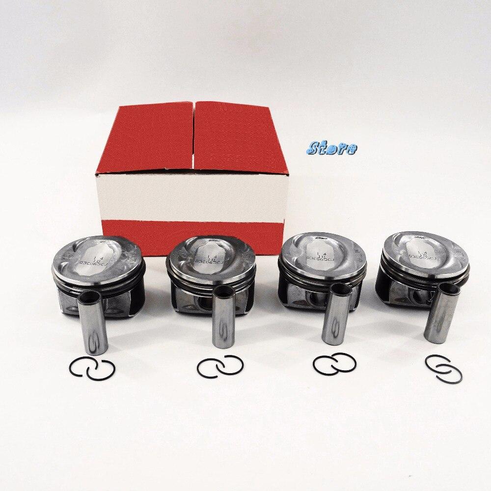 Oem 4piece 1 4T Piston Ring Set Fit AUDI A1 A3 S3 VW Golf Jetta Tiguan