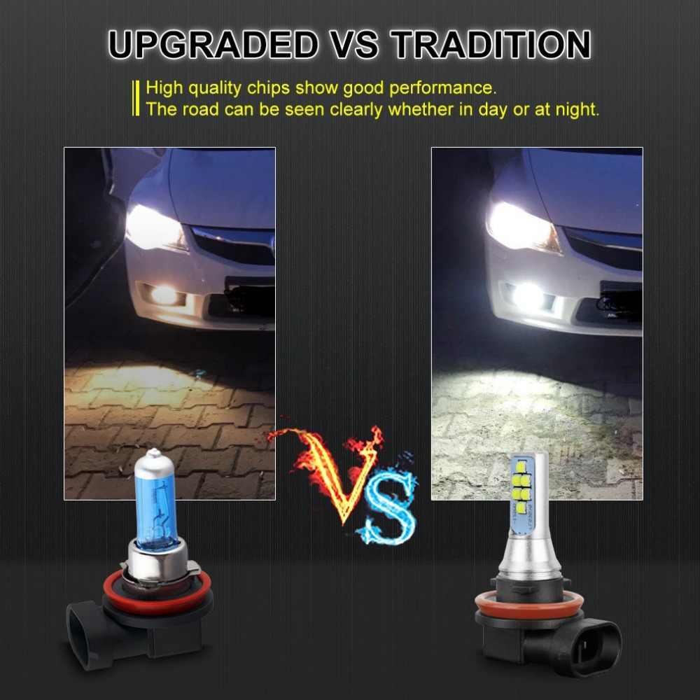 2pcs H8 H11 HB3 9005 HB4 9006 LED H16 LED Bulbs Canbus Error Free Car Fog Lights 12SMD 6000K White Driving Bulbs Auto DC 12V 24V