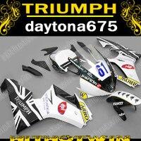 New hot injection mold parts fairing kit for Triumph daytona 675 white black blue motorcycle fairings set daytona 675 ZN39