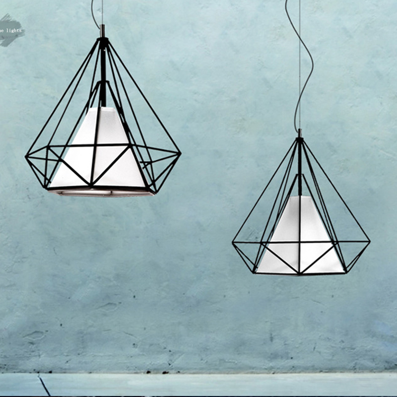 2016 Vintage Iron Pendant Lights Industrial Loft LED light Bar Cafe Bedroom Restaurant American Country Style Retro Hanging Lamp birdcage pendant lights minimalist pyramid light iron led pendant lamp hanging light cafe bar restaurant e27 vintage loft lamps