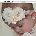 TWDVS Новорожденный Цветок Волос Группа Малышей Повязка Эластичность Аксессуары Для Волос Головные Уборы W037